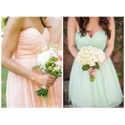 A-line Short Ruffle Chiffon Strapless Party Dress Sleeveless Knee-length Blue Tulle Bridemaid Dresses