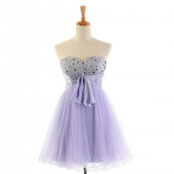 Short Sweetheart Beaded Cocktail Dresses Mini Prom Dress Homecoming Dress with Sash