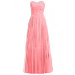 52ca620cc5 2018 New Floor Length Pink Bridesmaid Dresses Elegant Sweetheart A-line  Long Coral Prom Dress