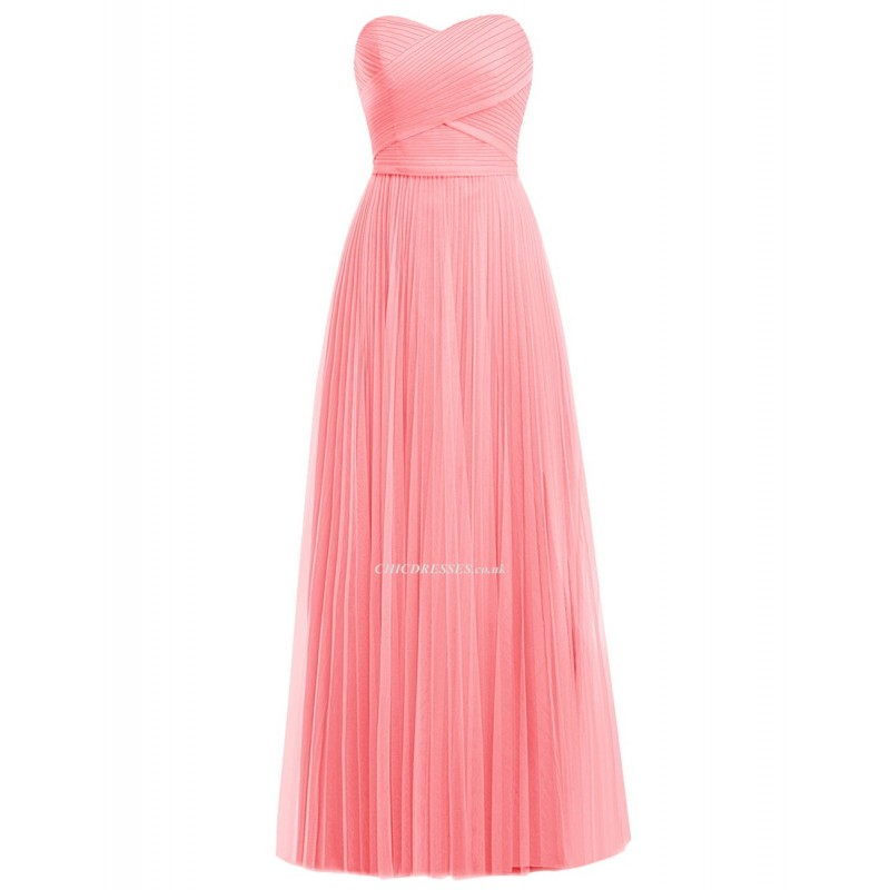 2018 New Floor Length Pink Bridesmaid Dresses Elegant Sweetheart A ...