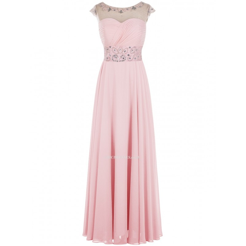 2018 New A-line Scoop Mini Pink Prom Dress With Cap Sleeves,Cheap Uk ...