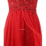 2018 New Elegant Red Lace Prom Dresses Lace Up Backless Chiffon Long Formal Dress Prom Dresses