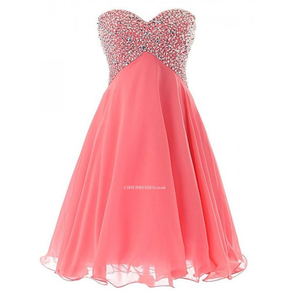 2018 New Short Tulle Cocktail Homecoming Gowns Lace Up Pink Prom Dress With Beading Cocktail Dresses 2017