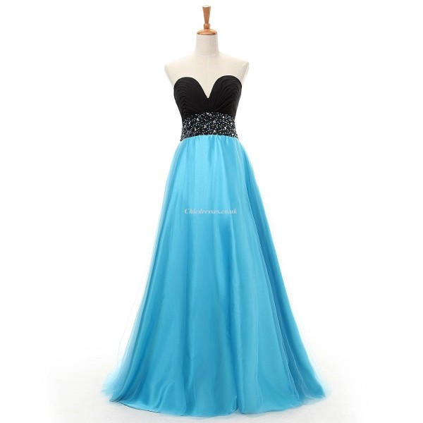 A-Link Floor Length Chiffon Column Strapless Evening Dress With Sequins New Arrival