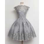 Short/Mini Bridesmaid Dress Knee Length With Lace/Appliquins Party Dress New Arrival