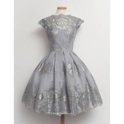 Short Mini Bridesmaid Dress Knee Length With Lace Appliquins Party Dress