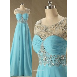 Gorgeous Handmade Beading Open Back Long Bridesmaid Dress