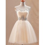 A-line Sweetheart ShortMini Princess Formal Party Dress With Beading New Arrival