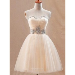 A-line Sweetheart ShortMini Princess Formal Party Dress With Beading