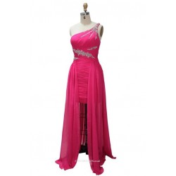 Floor Length One Shoulder With Beading Bridesmaid Dress Party Dr