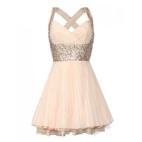 Mini/Short Criss Cross Straps With Beading Party/Bridesmaid Dress New Arrival