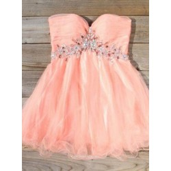 A-Ling Sweetheart Short Zipper Back Mini Party Dress With Beading