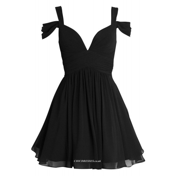 Simple Short Queen Anne Chiffon Party Dress/Bridesmaid Dress New Arrival