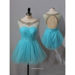ShortMini Princess PartyBridesmaid Dress With Beading