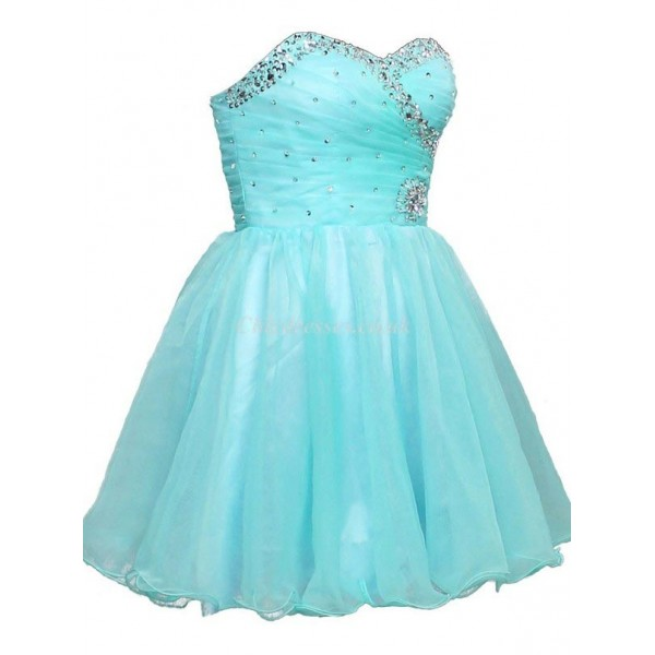 A-Ling With Beading Short Puffy Mini Bridesmaid Dress New Arrival