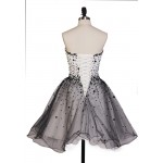 Short/Mini Lace-up Sweetheart Bridesmaid Dress With Beading New Arrival