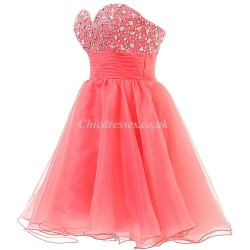 A-ling Short Strapless Zipper Back With Beading Party/Bridesmaid Dress
