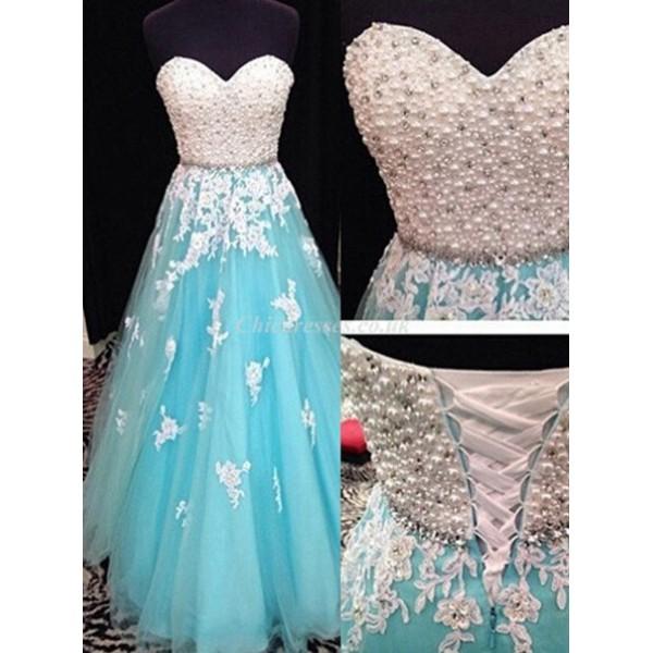 Fashion Long Chiffon Bridesmai Dress Lace-up Back Sweetheart Porm Dress With Pearl New Arrival