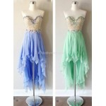 Asymmetrical Column Strapless With Beading Party/Cocktail/Bridesmaid Dress New Arrival