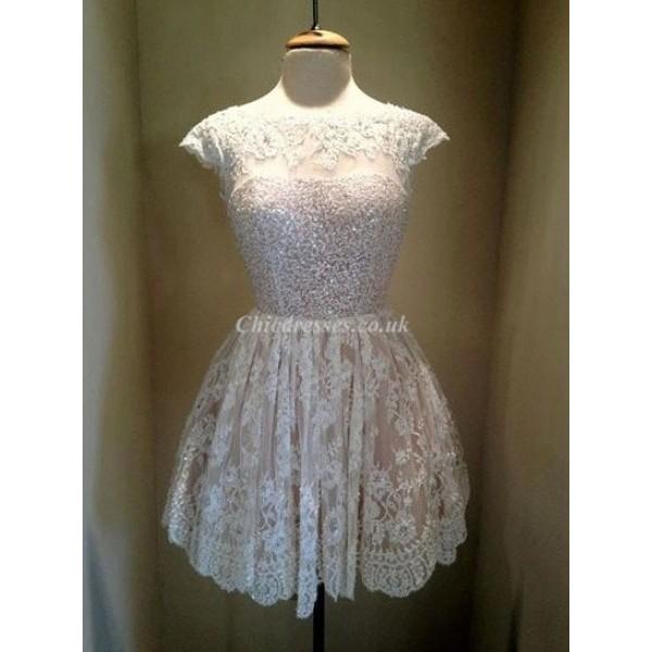 Simple Elegant Short Floral Lace Party Dress/Evening/Bridesmaid Dress New Arrival