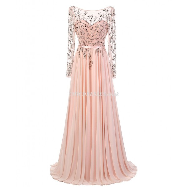 Floor Length Lace Long Sleeves With Beading Bridesmaid Dress New Arrival