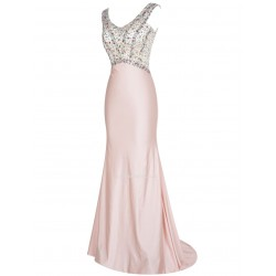 Sexy Slim Long Sweep Brush Train With Sequins Bridesmaid Dress/Party Dress