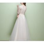 A-line Medium-Length 2019 New Floor Length Evening Dress Half Sleeve Chiffon Prom Dress New Arrival