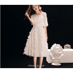 A-line Medium Length Fashion Cuffs Zipper Back Evening/Bridesmaid Dress New Arrival