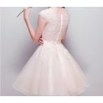 A-line Short/Mini Bridesmaid Dress Lace Collar Zipper Back Evening Dress New Arrival