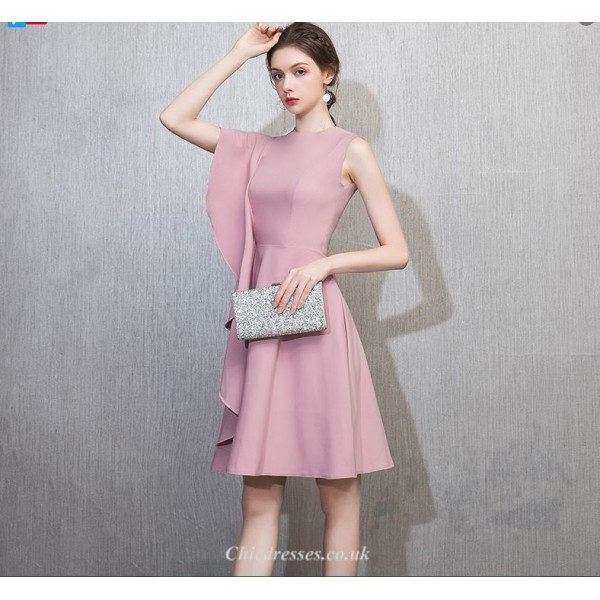 Chic Drseses Cocktail/Party Dress Fashion Lotus Edge Short Stain New Arrival