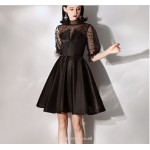 Chic Dresses Cocktail Dresses Black High-neck Half Sleeves Party Dress New Arrival
