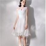 Short/Mini Elegant White Sling Chiffon Cocktail Party Dress New Arrival