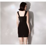 Short/Mini Black Little Sheath/Column Queen Anne-neck Cocktail/Party Dress New Arrival