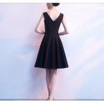 Short Little Black Dress Knee-length Square-neck Cocktail Dress New Arrival