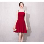 A-line Knee-length Fashion Neckline Letter Sling Red Cocktail/Party Dress New Arrival