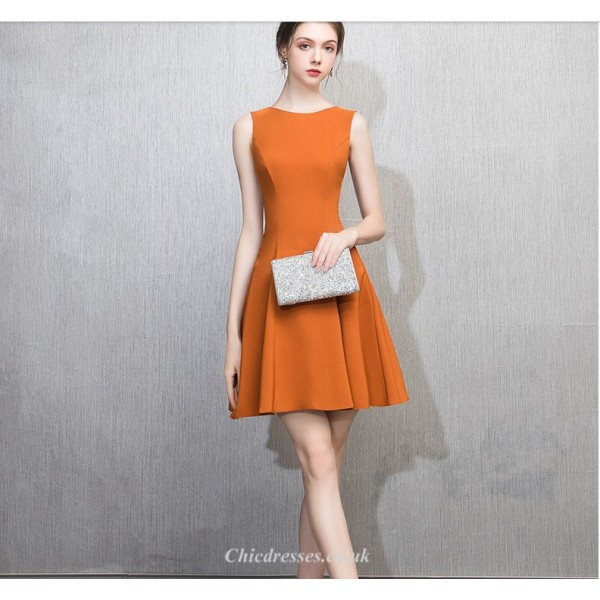 Cocktail/Party Dress Petite A-line Jewel-neck Zipper Back Short/Mini Chiffon New Arrival
