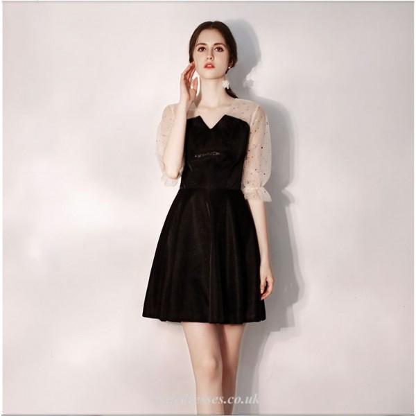 Cocktail/Party Dress V-neck Half Sleeves Short A-line Dress New Arrival