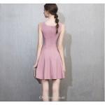 Short/Mini Scoop-neck Pink Chiffon Zipper Back Cocktail Party Dress New Arrival