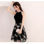 2019 New Fashion Little Black Dress Jewel-neck Knee-length Cocktail/Party Dress New Arrival