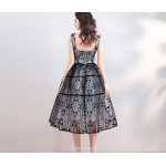Classic Medium-length Black Embroidery Pengpeng Party/Cocktail Dress New Arrival