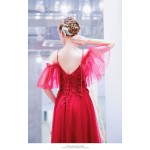 Modern and Fashionable Spaghetti Straps Lace-up Red Prom/Evening Dress With Sequines/Appliques New Arrival