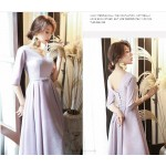 A-line Medium-length V-neck Half Sleeves Lace-up Cocktail/Party Dress New Arrival