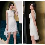 Sexy Sheath/Column Short White Party Dress Crew-neck Zipper Back Prom Dress New Arrival