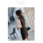 Sexy Short/Mini Sheath/Column Black Party Dress Lace Long Sleeves Zipper Back Prom Dress With Slits New Arrival