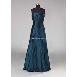 Floor Length Ink Blue Bridesmaid Dresses Strapless Long Dresses For Party