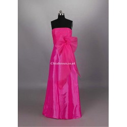 Floor Length Pink Bridesmaid Dresses Strapless Long Dresses For Party