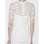 - Trumpet/Mermaid Wedding Dress - Ivory Court Train V-neck Tulle Wedding Dresses