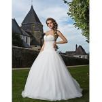 Fit & Flare Plus Sizes Wedding Dress - Ivory Floor-length Sweetheart Tulle Wedding Dresses