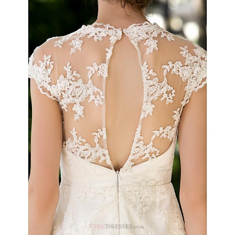 A Line Petite Plus Sizes Wedding Dress Ivory Knee