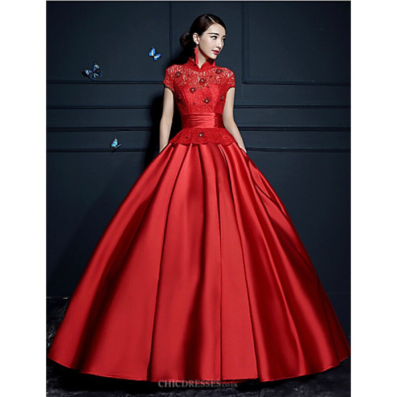 Wedding Gowns Online Uk: Ruby/Champagne Floor-length High